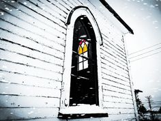 Through The Window - Photo taken at St Matthew's Church (Ruby Church) and Cemetery, Goulds, Ferryland District, Newfoundland, Canada St Matthews Church, Newfoundland Canada, Saint Matthew, Through The Window, Windows And Doors, Cemetery, Wall Art, Architecture, Arquitetura