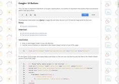 Google  Styled UI Buttons, Icon Buttons http://code.brucegalpin.com/google-plus-ui-buttons/