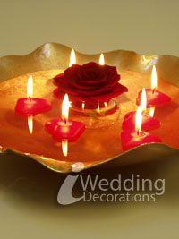 easy diy wedding centerpiece. Red instead of white tea lights