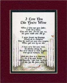 "Amazon.com - ""I Love You Like You're Mine"" A Gift For A Step-child. 8x10 Poem, Double-matted in Burgundy Over Dark Green And Enhanced With Watercolor Graphics. - Gifts To A Step Son"