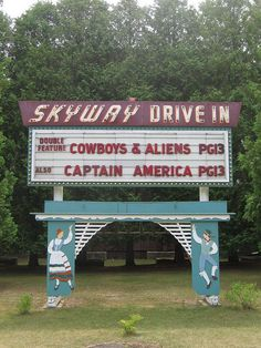 One of the last remaining drive-in movie spots left in Wisconsin is located in northern Door County between Fish Creek and Ephraim. The Skyway still opens every season on first weekend in May! See you there! Captain America, The Places Youll Go, Places To Go, Door County Wisconsin, Drive In Movie Theater, Vacation Destinations, Vacations, Vacation Spots, Vacation Ideas