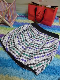 Milly tweed bubble skirt