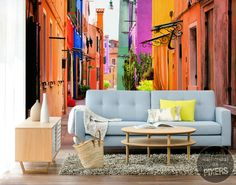 Wall Mural Color Alley - inspiration wall mural, interiors gallery• PIXERSIZE.com