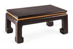 "Niermann Weeks | Chow 40"" Coffee Table, Black/Gold Leaf | solid poplar wood construction | 40""w x 24""d x 18""h | 6,210.00 retail"