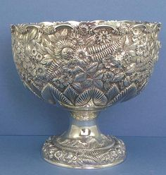 Hand Chased Sterling Fruit Bowl by Armiger