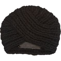 The Elder Statesman Women's Knit Turban (5.130.125 IDR) ❤ liked on Polyvore featuring accessories, hats, black, knit hat, turban hat, knit turban and knit turban hat