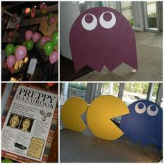 Totally Awesome Party Fer-shur - Oh My Creative Pac Man Party, I Party, Party Time, Party Ideas, 80s Birthday Parties, 80th Birthday, Birthday Ideas, 80s Party Decorations, Decade Party