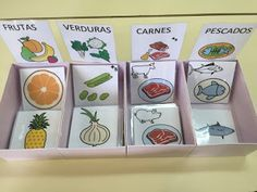 Aula Abierta T.E.A. Colegio Federico de Arce Martínez.: Caja de clasificación alimentos