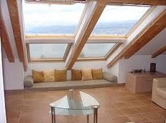 "Résultat de recherche d'images pour ""Velux balcony"" Attic Rooms, Attic Spaces, Small Space Living, Small Spaces, Loft Storage, Penthouse Apartment, Attic Conversion, Loft Room, Windows"
