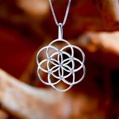 Seed of Life Pendant Silver With Gemstones - The Symbol of Creation and…