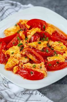 Tofu Pudding Dessert or Douhua (豆腐花) | Oh My Food Recipes Stir Fry Tomatoes, Fried Tomatoes, Asian Recipes, New Recipes, Chinese Recipes, Health Recipes, Summer Recipes, Tomato Dishes, Chinese Stir Fry
