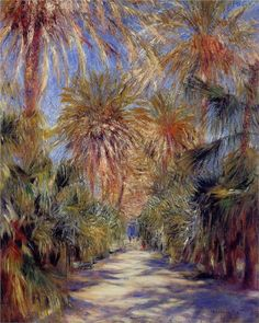 Pierre-Auguste Renoir (French 1841–1919) [Impressionism] Algiers, the Garden of Essai, 1881. Private Collection.
