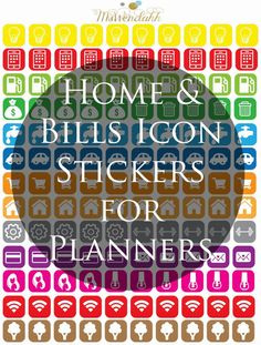 Home & Bill Icons Stickers - Wendaful