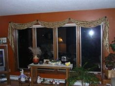 Scarf Valance Installed With Brackets Or Scarf Holders Instead Of A Rod.  Thinking Of Doing