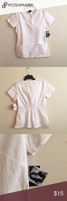 NWT Baby Phat Scrub Top NWT white scrub top by Baby Phat! Never used. Size Small. I'm also selling white scrub pants! Baby Phat Tops