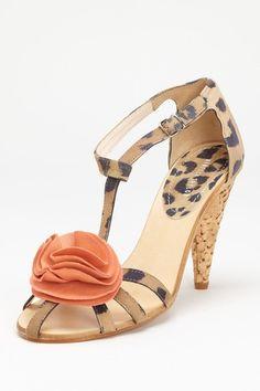 Rebecca Taylor Shoes Rosine Leopard Heeled Sandal