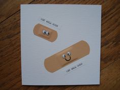 Handmade Get Well Soon Plaster Card, Mum, Dad, Sister, Husband, Friend........ £2.00, via Etsy.