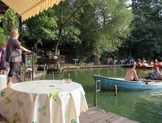 A gorgeous slice of 'old' West Berlin: Fischerpinte lakeside bar and boat hire