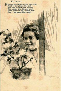 Morsdagskort Karl Dahl utg Mittet stemplet 1920