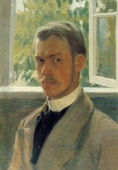 Файл: Кустодиев, автопортрет (1904, Пермь) .jpg