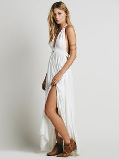 Dream Of Diamonds Slip | Femme maxi slip featuring shimmering stone accents sprinkled throughout and lovely lace-up side details with tasseled ties. Sheer fabrication.