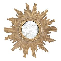 Worlds Away Versailles Gold Leaf Hand Carved Starburst Mirror