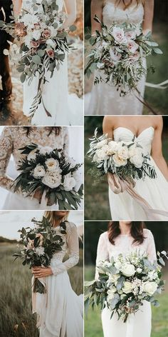 Sage green wedding colors theme for bridesmaids elegant wedding bouquets for 2019 Floral Wedding, Fall Wedding, Dream Wedding, Trendy Wedding, Boho Wedding Bouquet, Elegant Wedding Colors, Country Wedding Flowers, Neutral Wedding Colors, Spring Wedding Bouquets
