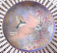 Garden Whispers 1st Issue Natures Little Treasure L. Martin Bradford Plate Mint