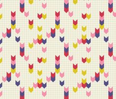 Sketchbook Chevrons fabric by violet's_pet_spider on Spoonflower - custom fabric