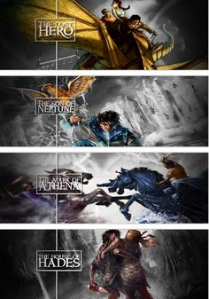 The Heroes of Olympus. Did anyone else notice that percy is on the cover of three of them, and that they lost hero is probably referring to percy, not Jason. Percy is the best!!!