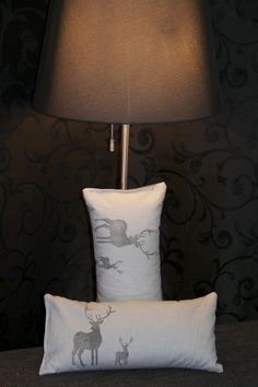 handmade and handprit cushion - made whit love in AUSTRIA www. Table Lamp, Cushions, Handmade, Design, Diy, Home Decor, Plain Cushions, Cash Gifts, Stocking Stuffers