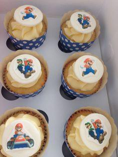 Mario bros cupcakes Mario Brothers, Mario Bros, Birthday Cupcakes, Party, Desserts, Food, Anniversary Cupcakes, Tailgate Desserts, Deserts