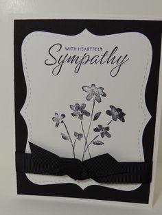"Stampin Up! ""With Heartfelt Sympathy"" Handmade Card #Handmade #Sympathy"