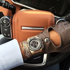 "@dailywatch's photo: ""Love this combo! Hermes driving gloves, Audemars Piguet Schumacher, @AnilArjandas jewelry all inside the stunning Range Rover Sport"""