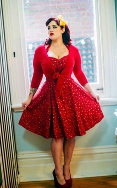 Pin up style dresses plus size - http://pluslook.eu/dresses/pin-up-style-dresses-plus-size.html. #dress #woman #plussize #dresses