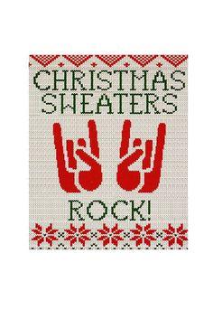 christmas card 2013 SWEATER ROCKS