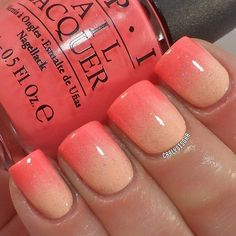 Image result for coral ombre nail art