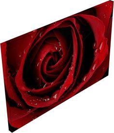 Dark Red Rose - Canvas-taulut (maalaus) - Photowall