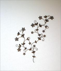 アイアン壁飾り スモールフラワー2セット(1)