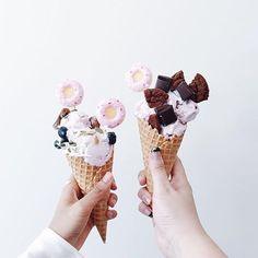 I scream for  candles on ice-cream  #tateslikesummer #donuts pic by @kimleow