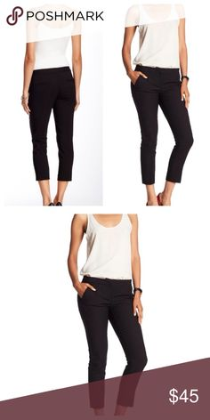 """Amanda & Chelsea Cropped Pant Zip fly with hook and bar closure, front slant pockets back welt pockets, cropped leg, approx 8"""" rise, approx 24"""" inseam (Nordstrom Featured Brand) fabric 50% cotton, 46% polyester, 4% spandex (NWOT) worn 2 times only Amanda & Chelsea Pants Ankle & Cropped"""