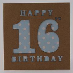 Birthday Card Age 16 £2.50