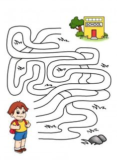Crafts,Actvities and Worksheets for Preschool,Toddler and Kindergarten Transportation Preschool Activities, Preschool Learning Activities, Kindergarten Worksheets, Kids Learning, Maze Games For Kids, Mazes For Kids Printable, Kids Mazes, Back To School Worksheets, Maze Worksheet