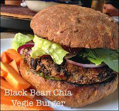 Black Bean & Chia Veggie Burgers