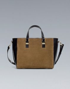 TWO-TONE SHOPPER BAG - Large handbags - Handbags - Woman - ZARA United States