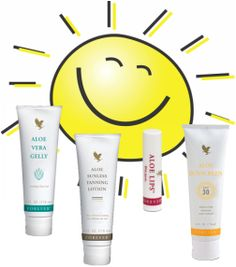 ALOE sun care! Aloe lips, sunless tanner, aloe sunscreen , aloe vera gelly. Go to shop or contact me.