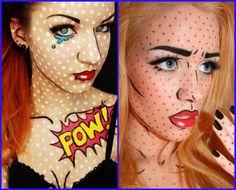 maquiagem halloween pop art