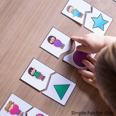 Help your toddler or preschooler learn his or her shapes with these cute printable Shape Matching Puzzles for Toddlers! Includes 12 2-piece puzzles featuring rectangle, triangle, crescent, heart, star, square, diamond, oval, octagon, circle, hexagon, and pentagon shapes.