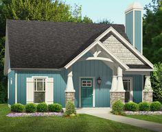 Guest Cottage or First Home - 36901JG | Cottage, Northwest, Narrow Lot, 1st Floor Master Suite, Den-Office-Library-Study, PDF, Split Bedrooms | Architectural Designs