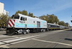 After dropping off its San Joaquin Valley passengers, the equipment from the day's train 711 heads to the yard to be refreshed prior to becoming the 718 back to Bakersfield.